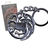 Kľúčenka Game of Thrones Metal Keychain Targaryen Sigil