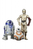 Star Wars Episode VII PVC Statue 3-Pack 1/10 C-3PO & R2-D2 & BB-8
