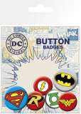 Odznak DC Comics Pin Badges 6-Pack Logos