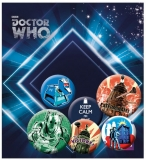Odznak Doctor Who Pin Badges 6-Pack Retro