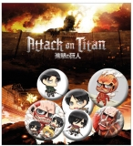 Odznak Attack on Titan Pin Badges 6-Pack Mix 2