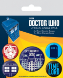 Odznak Doctor Who Pin Badges 5-Pack Exterminate