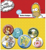 Odznak Simpsons Pin Badges 6-Pack Homer