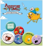 Odznak Adventure Time Pin Badges 6-Pack Finn