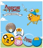 Odznak Adventure Time Pin Badges 6-Pack Jake