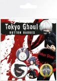 Odznak Tokyo Ghoul Pin Badges 6-Pack Mix