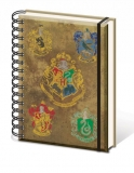 Zápisník - Harry Potter Notebook A5 Hogwart's Crests