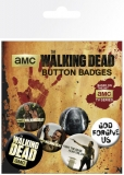 Odznak Walking Dead Pin Badges 6-Pack Mix
