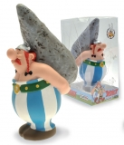 Asterix Bust Bank Obelix On Menhir 18 cm - pokladnička
