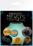 Odznak Fantastic Beasts Pin Badges 6-Pack Mix