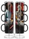 Šálka Star Wars Episode VII Stackable Mugs Set Black First Order (3 šálky)