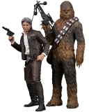 17/09 Star Wars Episode VII ARTFX+ Statue 1/10 2-Pack Han Solo & Chewbacca