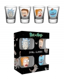 Pohár Sada Rick and Morty Shotglass 4-Pack Faces