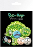 Odznak Rick and Morty Pin Badges 6-Pack Characters