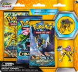 Pokémon TCG: 3 Pack Blister with Collector's Pin Raikou (žltý)