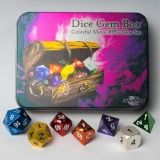 Kocka Set (7) Metal Dice Set - Gem Box