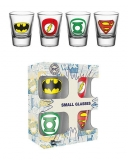 Pohár Sada DC Comics Shotglass 4-Pack Logo Mix