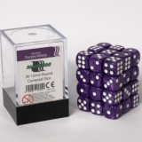 Kocka Set (36) - BF 12mm D6 - Marbled Purple/White