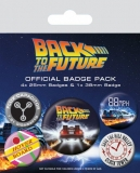 Odznak Back to the Future Pin Badges 5-Pack DeLorean