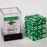 Kocka Set (36) - BF 12mm D6 - Opaque Green