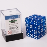 Kocka Set (36) - BF 12mm D6 - Transparent Dark Blue