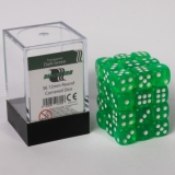 Kocka Set (36) - BF 12mm D6 - Transparent Dark Green