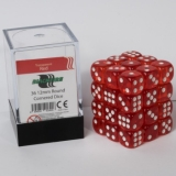 Kocka Set (36) - BF 12mm D6 - Transparent Dark Red