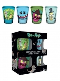 Pohár Rick and Morty Premium Shotglass 4-Pack Mix