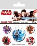 Odznak Star Wars Episode VIII Pin Badges 5-Pack Icons