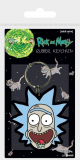 Kľúčenka Rick and Morty Rubber Keychain Rick Crazy Smile 6 cm
