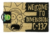 Rohožka - Rick and Morty Doormat Dimension C-137 Black 40 x 60 cm