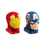 Soľnička a korenička - Salt and Pepper Shakers Iron Man & Captain America