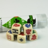 Kocka Set (5) D6/16mm, Poker Dice