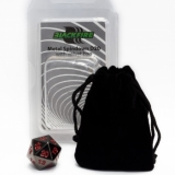 Blackfire Dice D20 Metal Spindown Counter BLACK