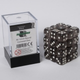 Kocka Set (36) - BF 12mm D6 - Transparent Black
