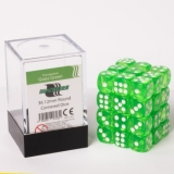 Kocka Set (36) - BF 12mm D6 - Transparent Grass Green