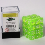 Kocka Set (36) - BF 12mm D6 - Transparent Light Green