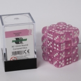 Kocka Set (36) - BF 12mm D6 - Transparent Pink