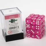 Kocka Set (36) - BF 12mm D6 - Transparent Rose Red