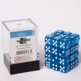 Kocka Set (36) - BF 12mm D6 - Transparent Sky Blue