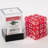Kocka Set (36) - BF 12mm D6 - Transparent Watermelon Red