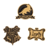 Odznak Harry Potter Hufflepuff Lapel Pin Set 3-Pack