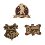 Odznak Harry Potter Gryffindor Lapel Pin Set 3-Pack