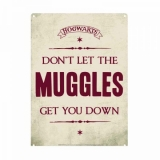 Harry Potter Tin Sign Muggles 21 x 15 cm