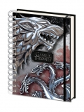 Zápisník - Game of Thrones Wiro Notebook A5 Stark & Targaryen
