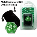 Blackfire Dice D20 Metal Spindown Counter GREEN