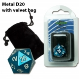 Kocka Blackfire Dice D20 Metal Random Blue