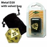 Kocka Blackfire Dice D20 Metal Random Gold