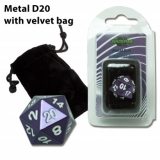 Kocka Blackfire Dice D20 Metal Random Purple