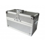 Krabčka The Crypt - Lockable Metal Deck Box Silver